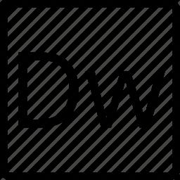 dream, dw, file, square, type, weaver icon