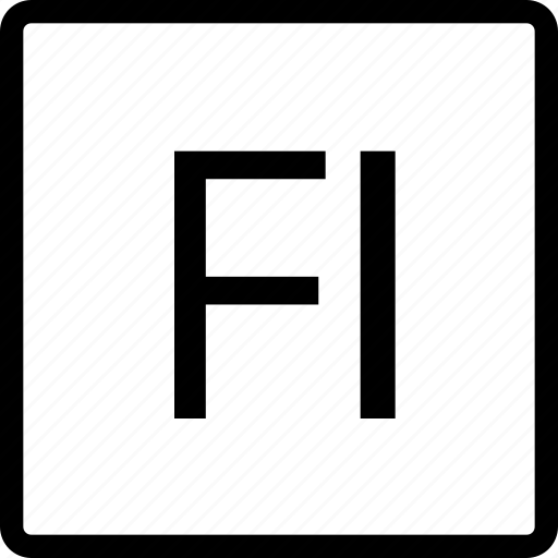 file, fl, square, type icon