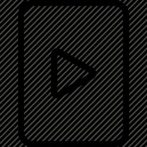 content, document, file, media, video icon