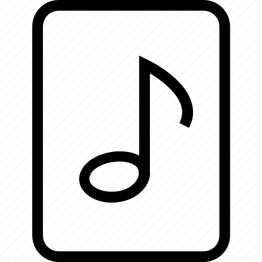 content, document, file, media, music, note icon