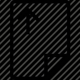 arrow, file, move, paper, up icon