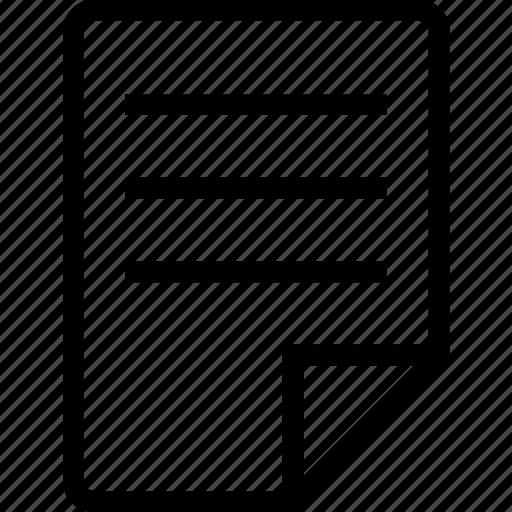 description, file, paper icon
