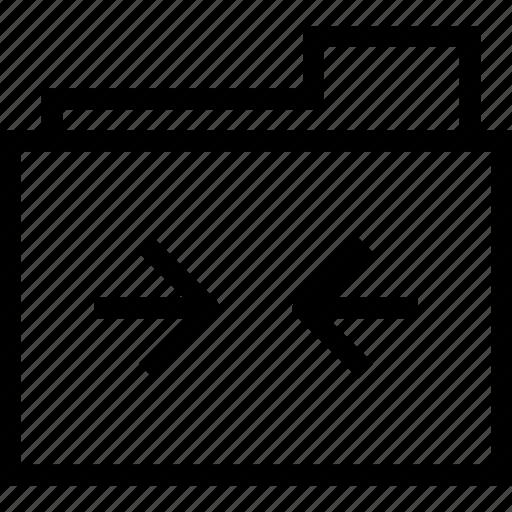 arrow, document, folder, left, right icon