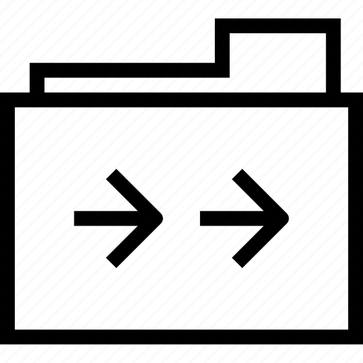 arrow, document, double, folder, right icon