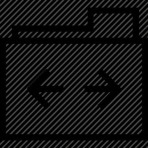 document, folder, left, move, right icon