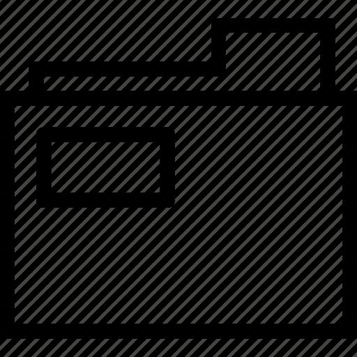 description, document, folder, tag icon