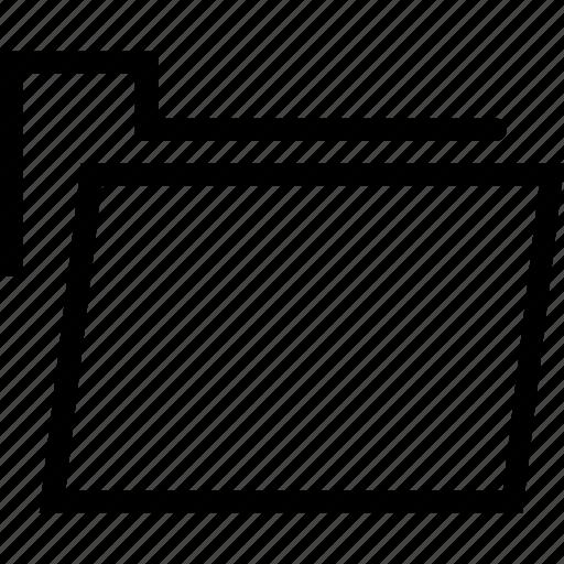 document, folder, plain icon