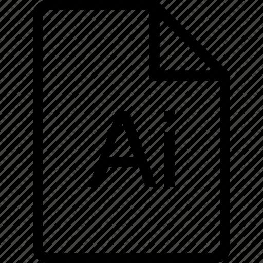 adobe, file, ilustrator, paper, sheet icon