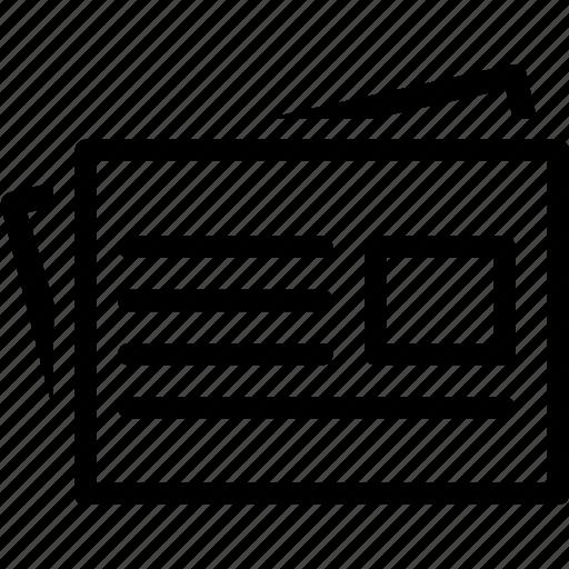 content, description, file, letter, paper, sheet icon