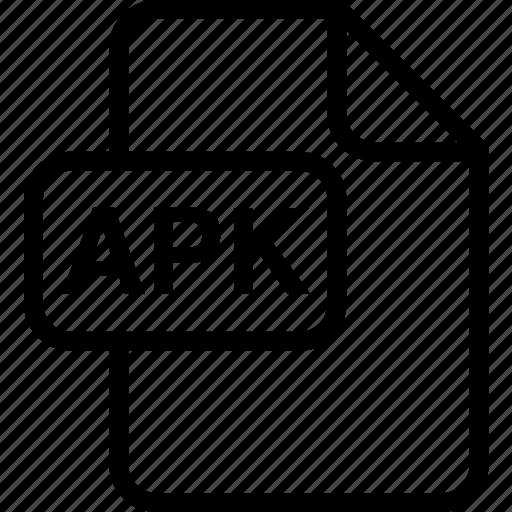 apk, file, paper, sheet, type icon