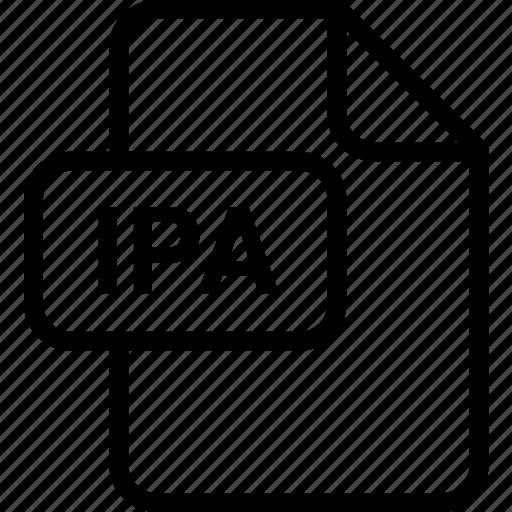 file, ipa, paper, sheet, type icon