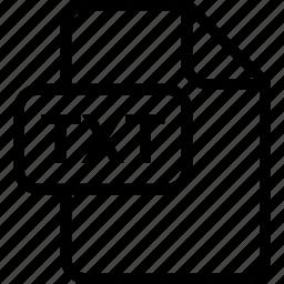 file, paper, sheet, txt, type icon