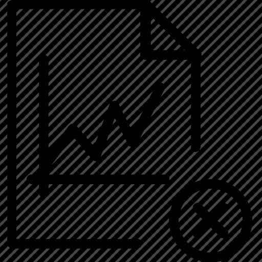 cancel, content, file, graph, remove, stats, type icon