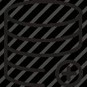 add, cylinder, layers, plus, shape
