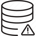 cylinder, exclamation, layers, shape icon