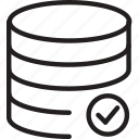 check, cylinder, layers, ok, shape icon