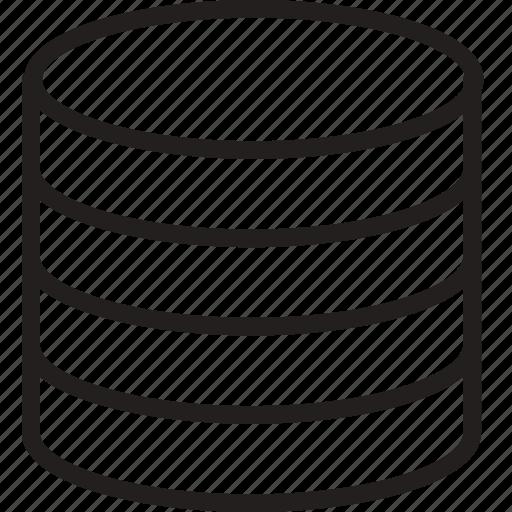 cylinder, layers, plain, shape icon