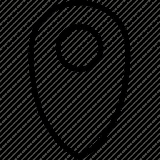 mark, pinpoint, plain icon