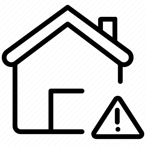 computer, exclamation, home, house, pc icon