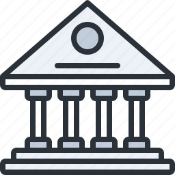 bank, building, business, construction, deposit, savings icon