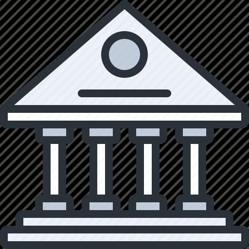 bank, building, business, construction, deposit, savings icon