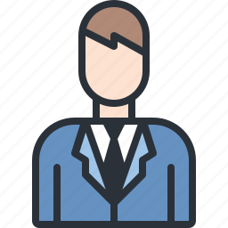 business, man, suit, user icon