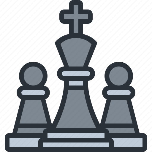 business, chess, game, king, strategy icon