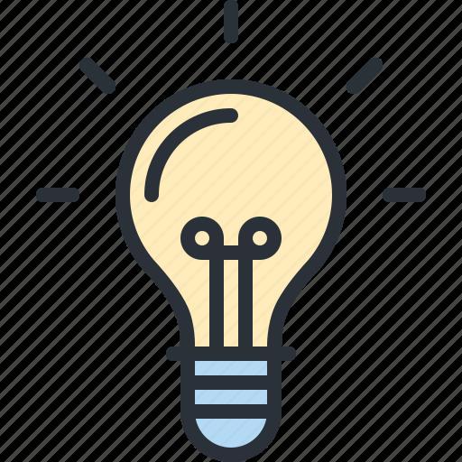business, electricity, energy, idea, light, lightbulb, power icon