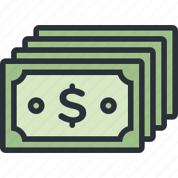 business, cash, currency, dollar, money icon