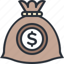 bag, business, cash, money, savings