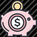 bank, business, cash, deposit, money, piggy, savings