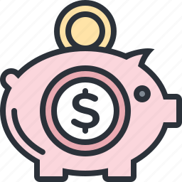 bank, business, cash, deposit, money, piggy, savings icon