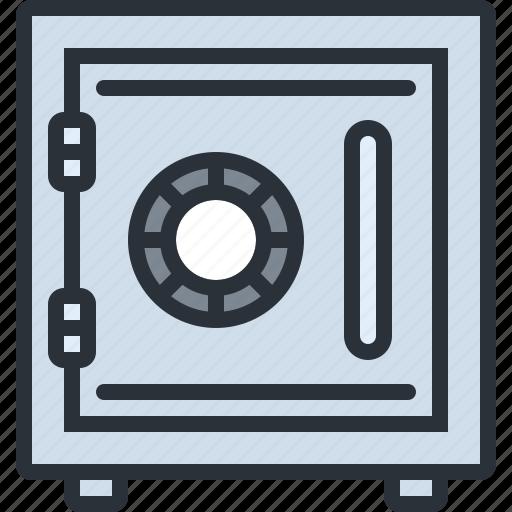 business, deposit, money, safe, savings, security icon