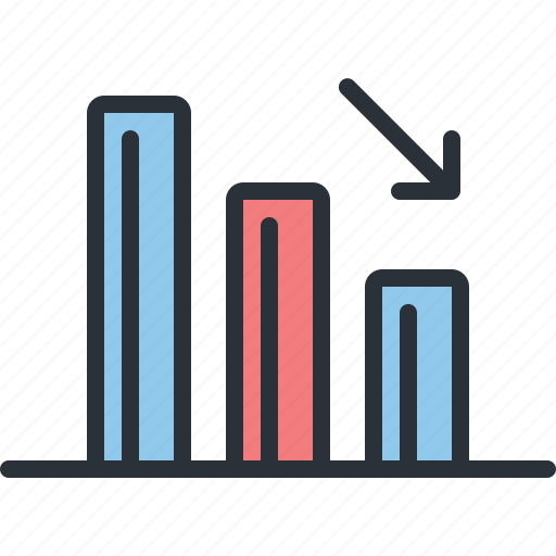 analytics, business, chart, diagram, loss, statistics, stats icon