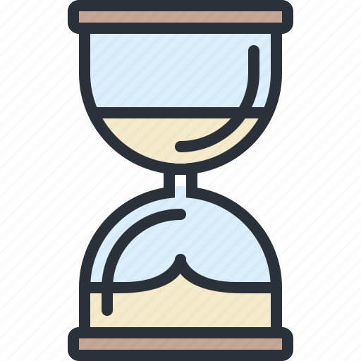 business, history, hourglass, management, time icon