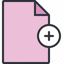 add, document, file, new, paper icon
