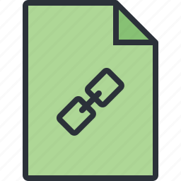 attachment, document, file, link, paper icon
