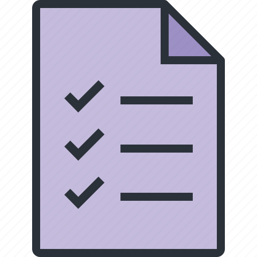 check, compete, doument, file, list, paper, task icon