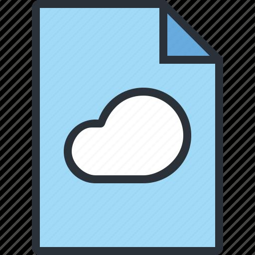 cloud, document, file, internet, online, paper, web icon