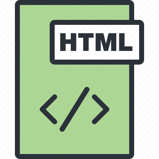 document, file, html, language, paper, programming icon