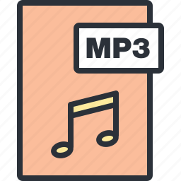 audio, document, file, mp3, music, paper, sound icon