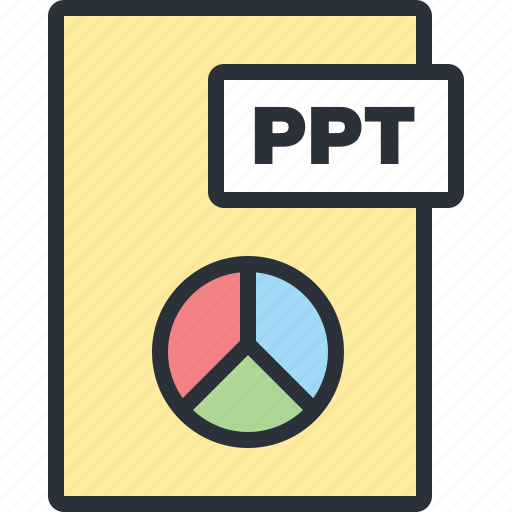 chart, document, file, paper, pie, powerpoint, statistics icon