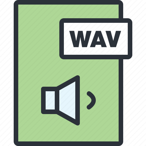 audio, document, file, paper, sound, wav icon