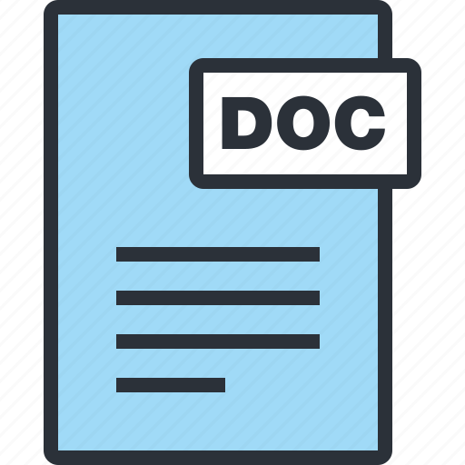 document, file, office, paper, word icon