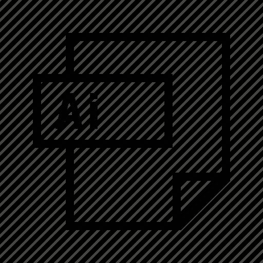 adobe, ai, filetypes, illustrator icon