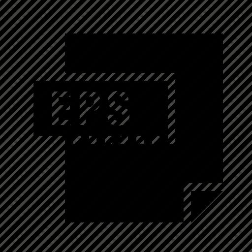 encapsulated, eps, filetypes, postscript icon