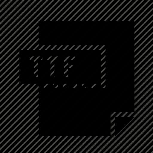 filetypes, font, truetype, ttf icon