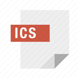 filetypes, ics icon