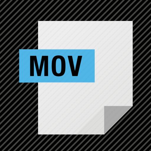 filetypes, mov, movie, video icon
