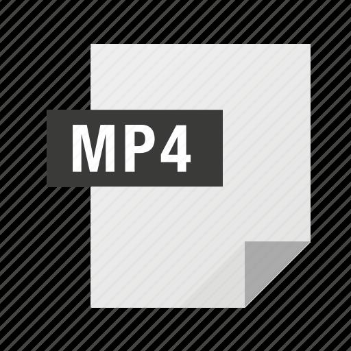 audio, filetypes, movie, mp4, video icon